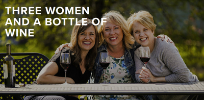 Three Women And A Bottle Of Wine